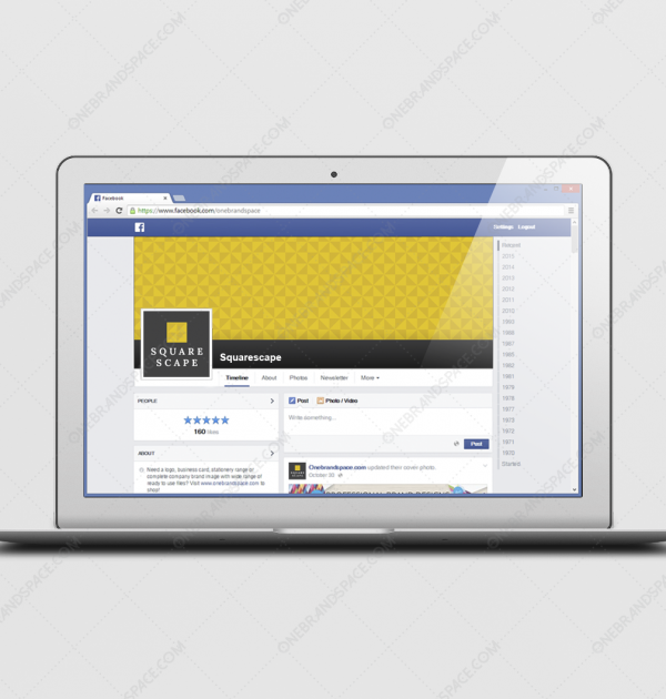 Squarescape Facebook Logo and Cover for Business