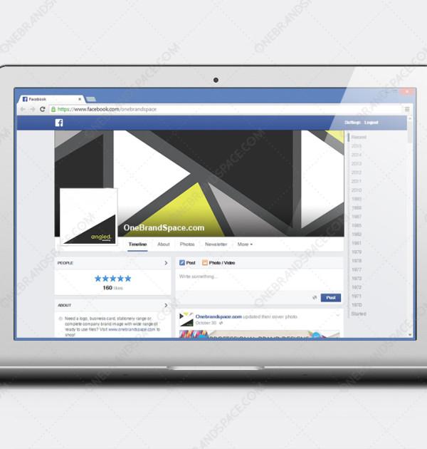 Angled - Facebook Social Media Design