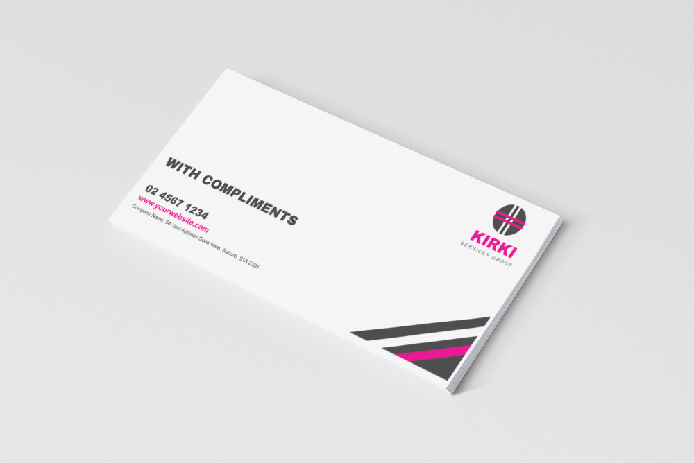 FREE With Compliments Slip 3D Mockup - OneBrandSpace Pty Ltd
