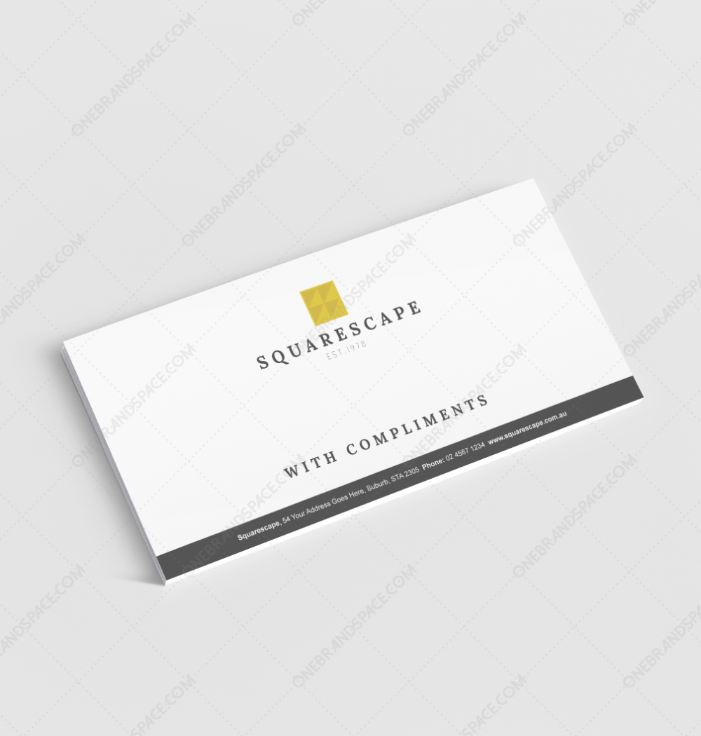 Squarescape Business Compliments Slip