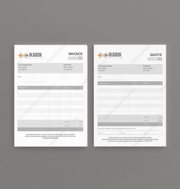 Ikabok Quote Invoice Templates for Business